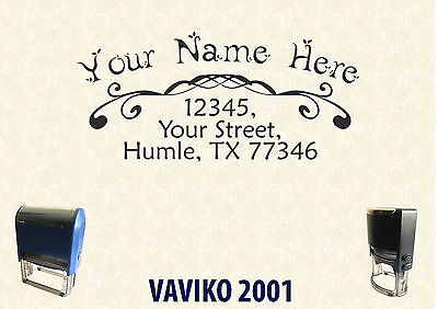 Self Ink Personalised Rubber Stamp Return Business Address Sa015 6040