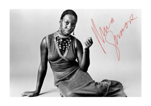 Nina Simone 1 A4 reproduction signed photograph picture poster choice of frame