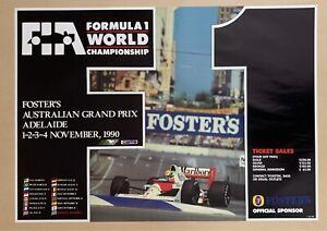 Australian Formula 1 Grand Prix 1990 World Championship Poster