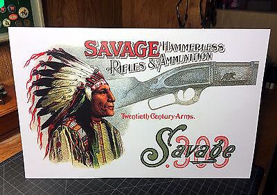 Savage Hammerless Rifles & Ammunition Standing Die-Cut