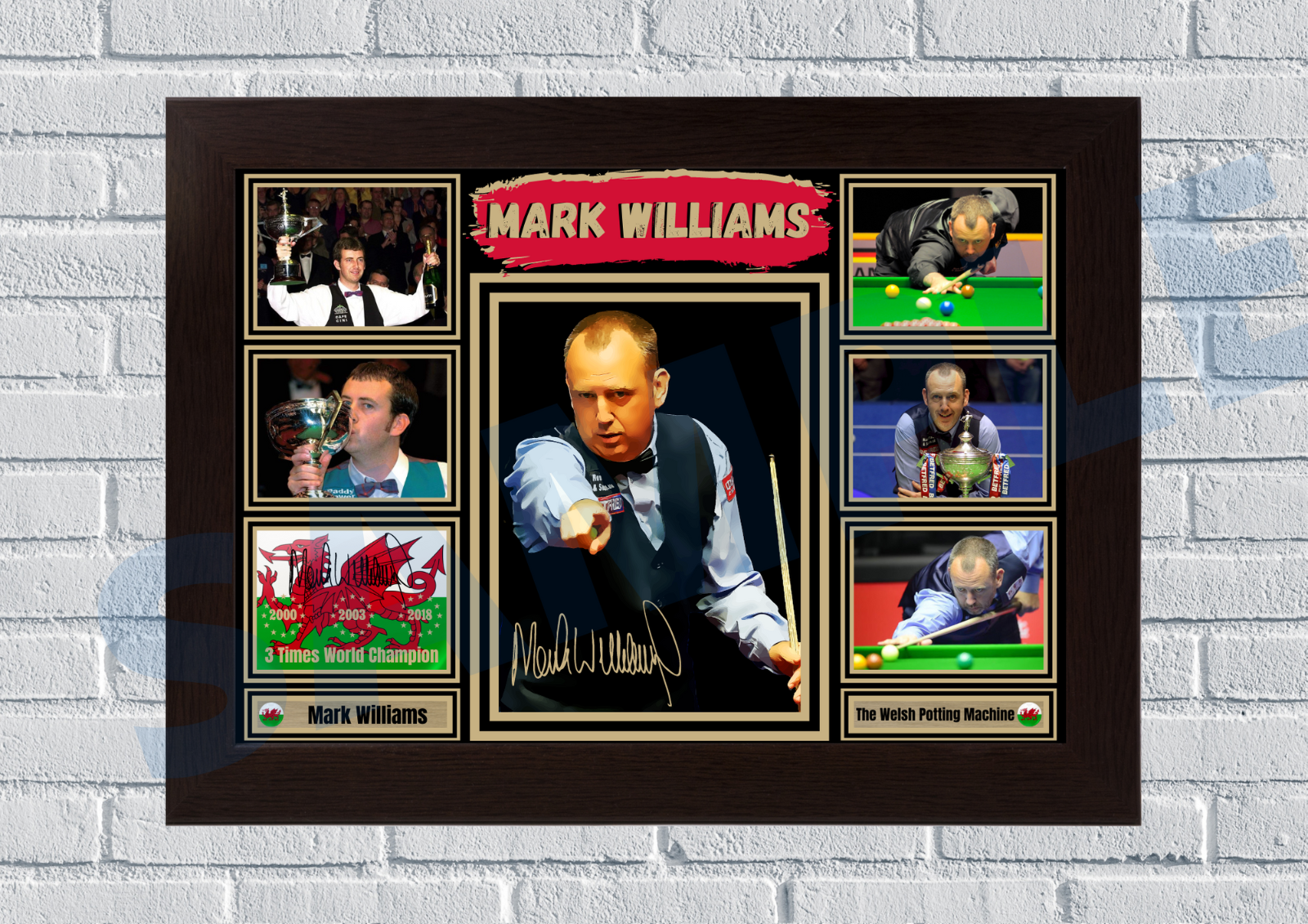 Mark Williams Snooker A4/A3 - Unframed/Framed Autograph gift #61 signed