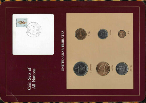 Coin Sets of All Nations United Arab Emirate UNC 1973-1989 5 Fil 1987 FALCON