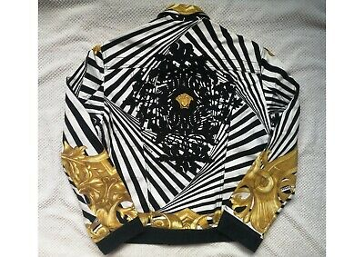 Gianni Versace Digital Print Denim Jacket