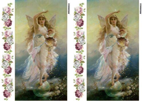 Rice paper decoupage ars000033 napkin vintage fairy angel Decoupage supplies