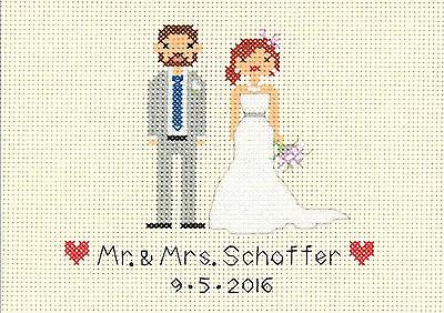 Wedding Record Bride and Groom Cross Stitch Kit