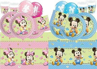 Baby Shower Mickey Minnie Mouse Birthday Party Tableware Decorations Supplies - Baby Mickey Party Decorations