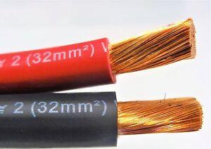 50u0027 ft excelene 2 awg gauge welding battery cable 25u0027 red u0026 25u0027