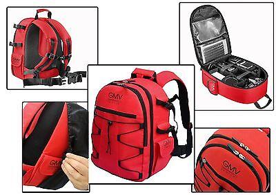 Zaino Reflex Rosso per fotocamera SLR e accessori + COVER ANTIPIOGGIA GMV NERA