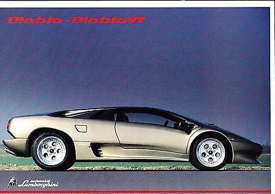 Lamborghini Diablo VT brochure - 1993 - mint