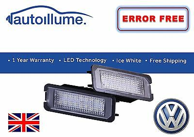 VW Golf GTI R Mk7 Mk6 Mk5 Canbus Compatible LED Number Plate Light Units