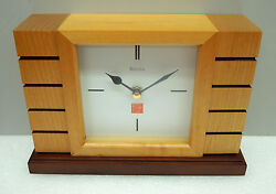 FRANK LLOYD WRIGHT UNISON II MANTLE CLOCK MADE BY BULOVA B1659