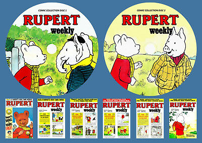 Rupert Weekly Comic Complete On Two DVD Rom's