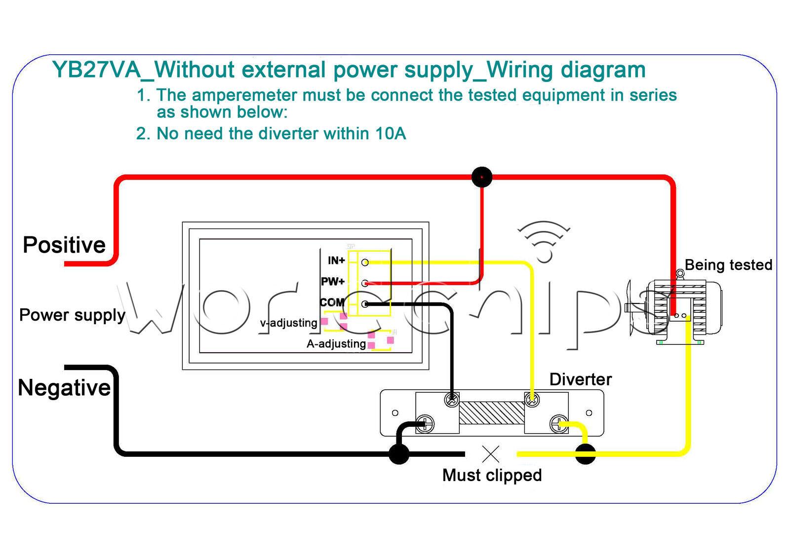 0 50a Dc 45 30v Dual Red Led Digital Volt Meter Ammeter Voltage Am Wiring Diagram On For