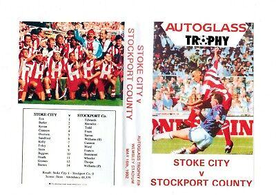STOKE CITY AUTO GLASS TROPHY FINAL 1992 DVD