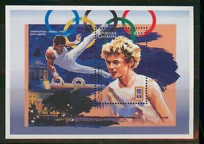 MayfairStamps Central Africa 1968 Mexico Gymnastics Olympics MNH Souvenir Sheet