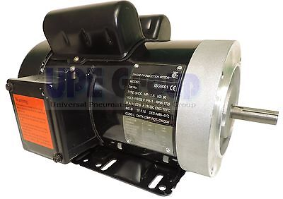 1.5 Hp Electric Motor 56c 1ph Tefc 115230 Volt 17501800 Rpm General Purpose