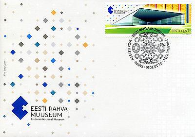 Estonia 2016 FDC Estonian National Museum 1v Set Cover Buildings Stamps