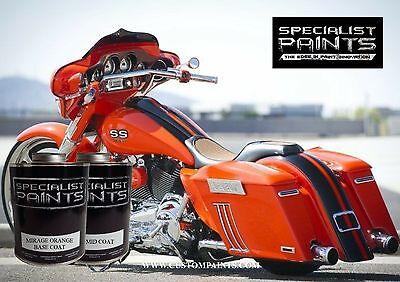 1 Pint Kit - 1 PINT KIT OF HARLEY DAVIDSON MIRAGE ORANGE PAINT. MOTORCYCLE, AUTOMOTIVE,HOTROD