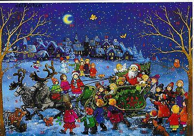 # SELLMER Adventskalender Nr. 98 # Weihnachtsschlitten & Kinder, mit GLIMMER