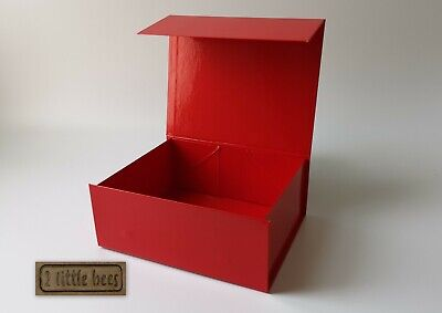 Red Gift Box Magnetic Medium Birthday Love Luxury Boxes Corporate Hamper Gift UK