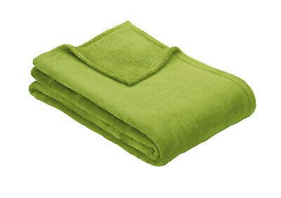 Ibena OLBIA Luxuriously Soft Plain Fleece Warm Throw / Blanket 150 cm x 200 cm