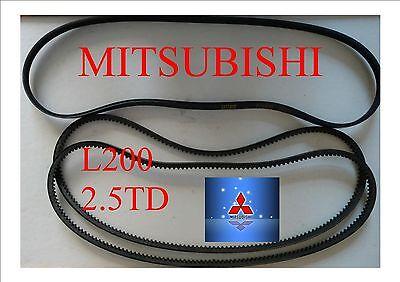 ALL THREE BELTS      MITSUBISHI WARRIOR FAN BELTS Kit For L200 25TD