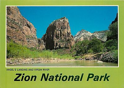 Virgin River Zion National Park (Zion National Park Postcard - Angel's Landing & Virgin River UTAH Postcard)
