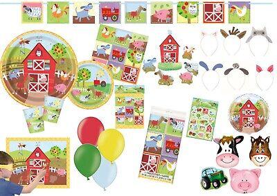 irthday Farmyard Animals Tableware Supplies Decorations  (Farm Friends Party Supplies)