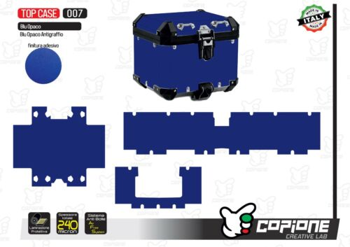 Cover Total For All Types By Top Case/Bauletto Scratch Blue - 007