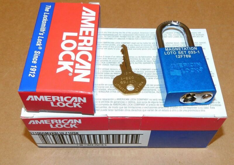 """(6) American Lock Safety Lockout Padlock 6 Pin 1 1/2"""" S1106 Keyed Different New"""
