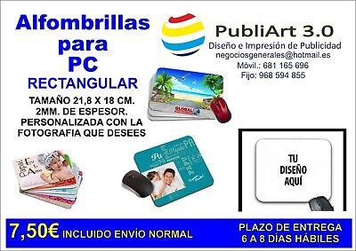 ALFOMBRILLA DE RATÓN PERSONALIZADA (MOUSE PAD) con la imagen o logo que...