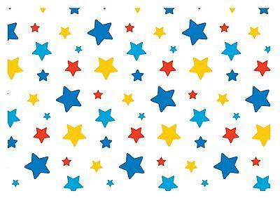 ND5 Circus theme stars wallpaper Print  Cake Topper Icing A4 Edible](Circus Theme Cake)