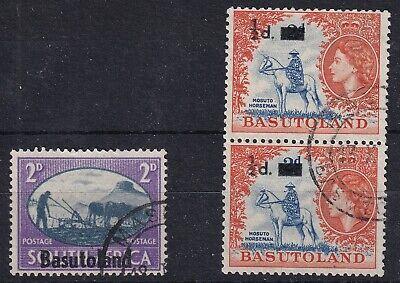 Basutoland- 3 used stamps