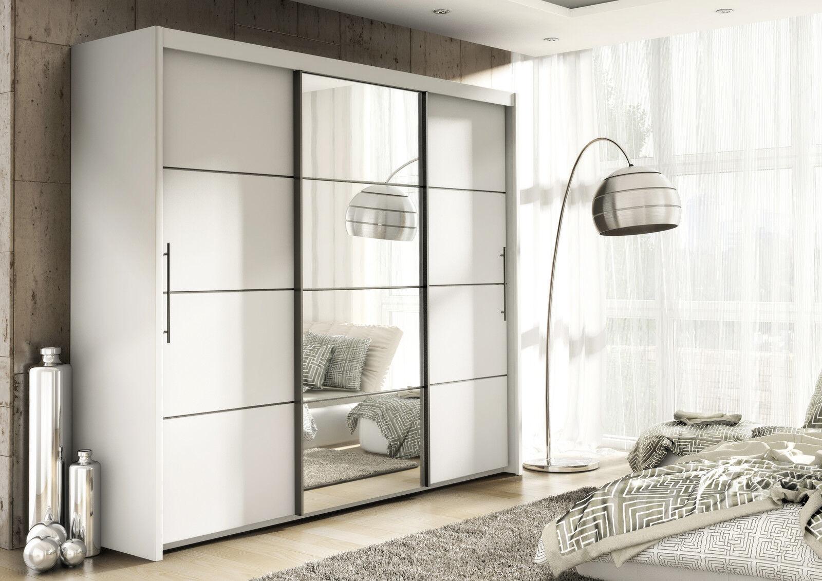 inova white sliding door wardrobe slider bedroom furniture chest of drawers ebay. Black Bedroom Furniture Sets. Home Design Ideas