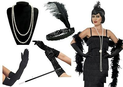 1920's Charleston Gatsby Flapper Gangster Fancy Dress Costume Accessories Lot ()