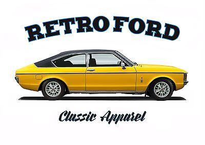 Granada Coupe - FORD GRANADA GHIA COUPE t-shirt. RETRO FORD. CLASSIC CAR. MODIFIED.
