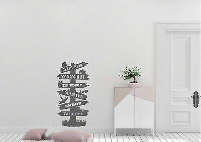 Star Wars Sign Post Inspired Design Home Syfy Decor Wall Art Decal Vinyl Sticker