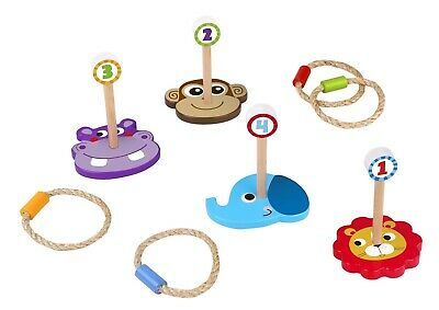 Toysters Wooden Ring Toss Game   Portable Childrens Indoor Outdoor Carnival - Indoor Carnival Games