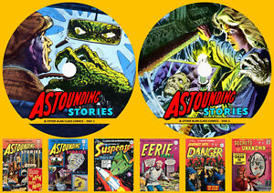 Astounding Stories & Other Alan Class UK Comics On Two DVD Rom's