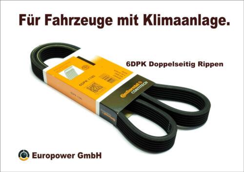 CONTI Keilrippenriemen VW POLO SHARAN T5 1.6-2.0 1.9 TDI 06A260849C - 6DPK1195