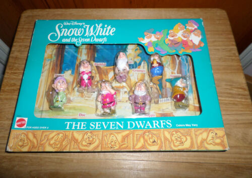 Walt Disney Mattel - The Seven Dwarfs Mini Figures - NIB -Snow White