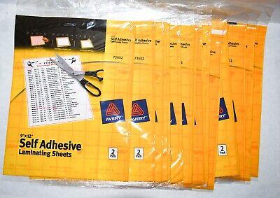 Avery Self-adhesive Laminating Sheets 9 X 12 2 Sheets Per Pack 73602