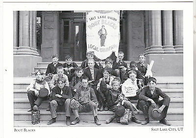 "+PC-Postcard-""Salt Lake City Union Boot Blacks""-1907- @ S.L. City Utah (A65-2)"