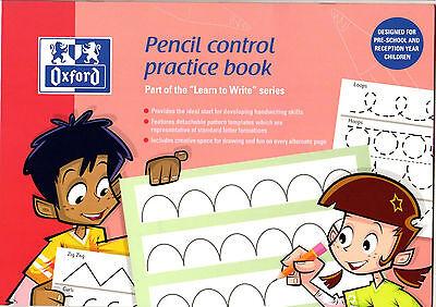 Oxford Learn to Write Pencil Control Practice Book Pre-School Reception year