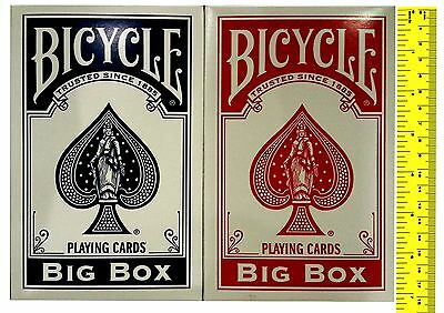 Bicycle Big Box BLUE Playing Cards Extra large Deck Magic New Festival Size Deck (Extra Large Playing Cards)