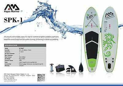 Aquamarina SPK-1 Inflatable Stand Up Paddle Board SUP Package inc Paddle