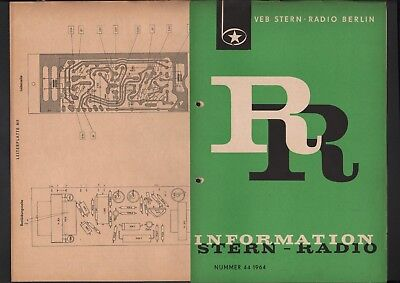 BERLIN, Prospekt 1964, VEB Stern-Radio Berlin TGL 8839