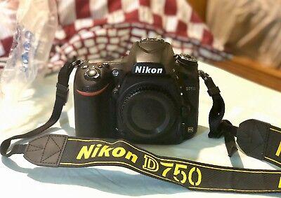 Nikon D750 24.3MP DSLR Camera Full Frame Boxed 2x Battaries (Body Only)