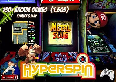 HYPERSPIN FRONTEND WITH ROMS (MAME)  **EXTRACT & PLAY**