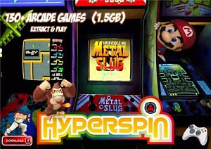 HYPERSPIN-FRONTEND-WITH-ROMS-MAME-EXTRACT-amp-PLAY